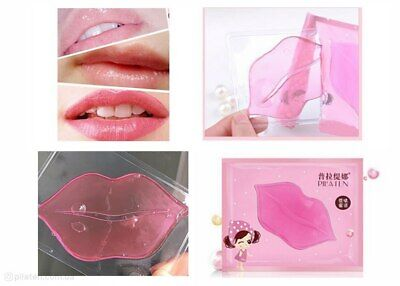 Pink Lip Mask Collagen Anti-Ageing Moisturising Bio Pad Patch UK Seller
