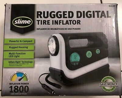 Tire Air Inflator LED Light 12v Digital Display Compact Portable Rugged Powerful