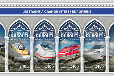 Briefmarken Afrika Z08 Imperf Djb18316a Djibouti 2018 European Speed Trains Mnh ** Postfrisch