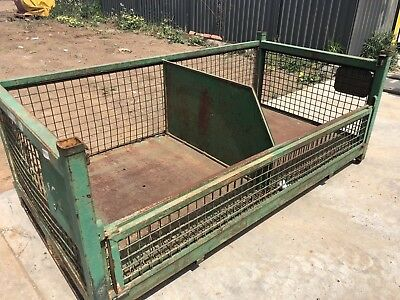 Green Industrial Green Stillage With Divider Planter Garden Bed Storage