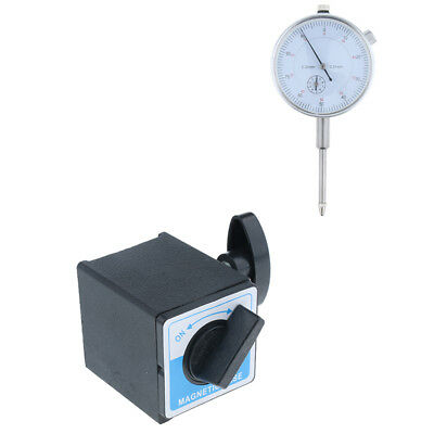 Set of 0-30mm Test Precision Dial Indicator Gauge & 160kg Magnetic Base