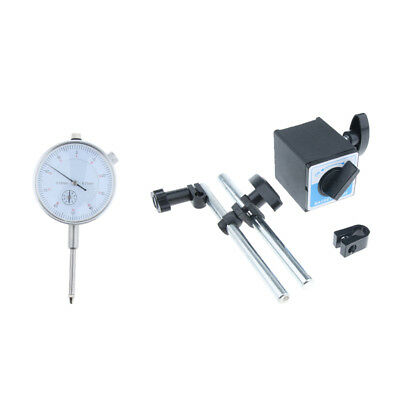 Set of 0-25mm Test Precision Dial Indicator Gauge & 160kg Magnetic Base