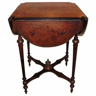 Antique French Rosewood Inlaid Side Table Circa 1880