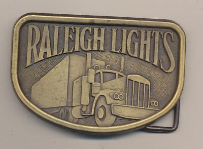 Raleigh Lights Cigarettes Tobacco Semi Truck Trucking 1980's Vintage Belt Buckle