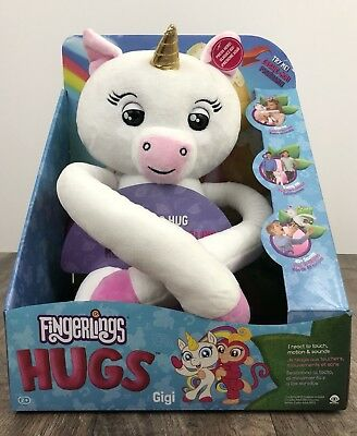 WowWee Fingerlings Exclusive Hugs GIGI Plush White Unicorn Hot Rare 2018 NIB