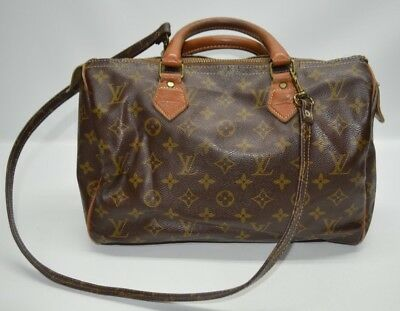 Louis Vuitton Vintage French Company Monogram Speedy 30 With Shoulder Strap ee13e15a9bcfc
