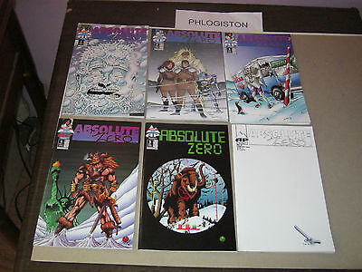 ABSOLUTE ZERO #1-6 (Antarctic Press, 1995) 1st appearance Dean Hsieh's Athena