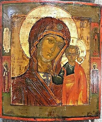Russian Icon c1780 Museum Quality Mother of God Antique Hodigitria Wood Rare