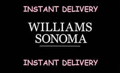 Williams Sonoma 15% Off Coupon Entire Purchase Online ONLY