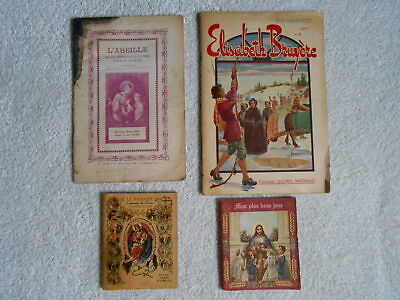 A Vintage Collection Lot of Four (4) French Canadian Catholic Books: 1938-45