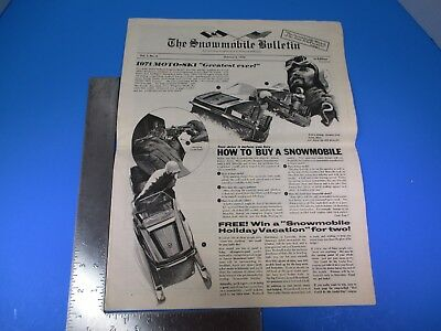 Vintage The Snowmobile Bulletin October 5, 1970 How To Buy A Snowmobile M6108