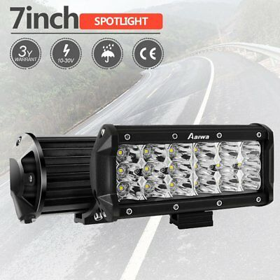 "7"" inch 768W Quad-Row LED Pods Work Light Bar Spot Beam Driving Offroad 4WD 2pcs"