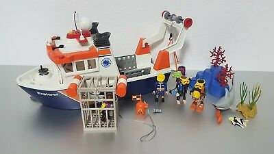 PLAYMOBIL 4469 Expeditionsschiff  Forschungsschiff + Taucherset