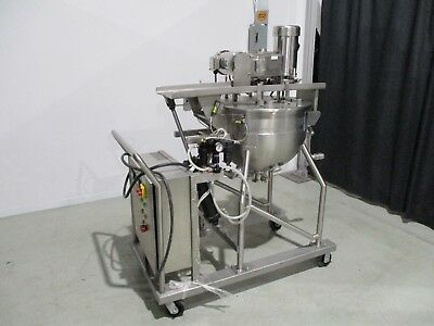 100L jacketed tank kettle with Silverson homogenizer mixer and scraper