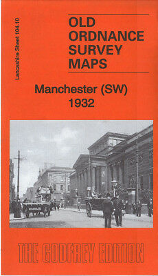 Godfrey Edition Old Ordnance Survey Maps Lancashire - City Of Manchester