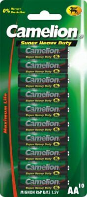 Camelion R6 AA Mignon Super Heavy Duty Battery (Pack of 10)