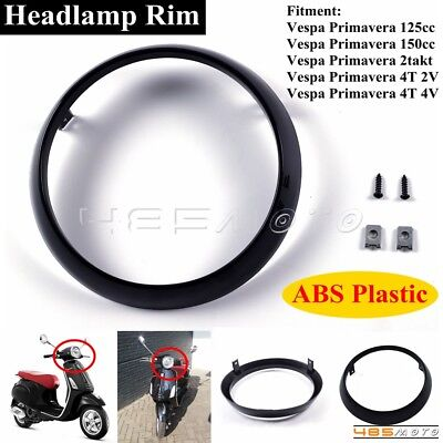 Motorcycle Scooter Round Headlamp Rim Headlight Ring For Vespa Primavera 125cc
