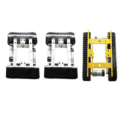 Obstacle Avoidance Robot Smart Tank Chassis Kit Car Light Shock + Code Wheel