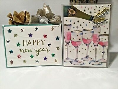 papyrus greetings happy new year cards set of 2 toasting in the new year