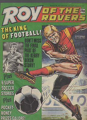 (-0-) ROY OF THE ROVERS COMIC 13th June 1987