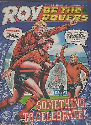 (-0-) ROY OF THE ROVERS COMIC 20th June 1987