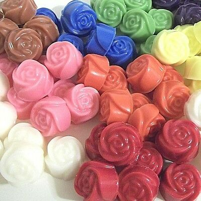 30 pc Candle Wax Melts Tarts Rose Shape 8 oz - Over 250+ Home Fragrances