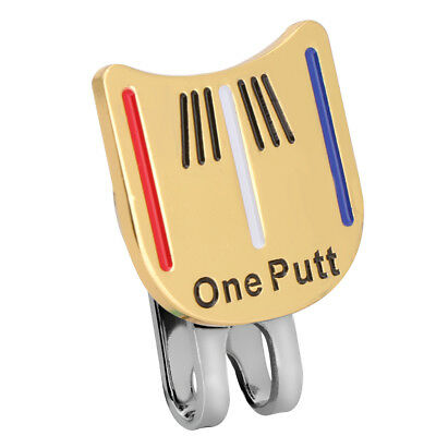 Golf Ball Marker Putting Putt Alignment Aiming Tool w/ One Magnetic Hat Clip