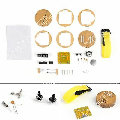 DIY SCM LED Digital Watch Electronic Clock Kits With Transparent Cover