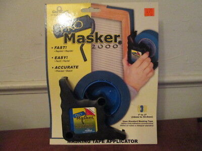"Geo Mask Pro Masker 2000 Tape Applicator 1""-2"" Paint Trim w/ 1 finishing brush"