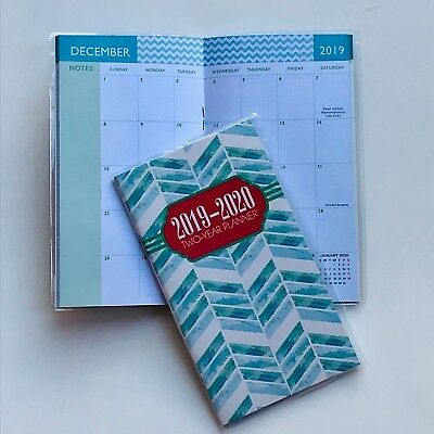 One 2019-2020 CHEVRON 2 Two Year Planner Pocket Calendar Organizer Datebook