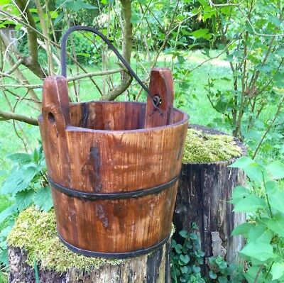 Wooden Bucket like Antique, Medieval Well Bucket