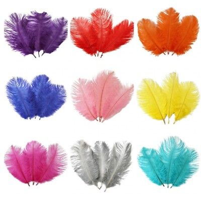 3 Sizes Beautiful Ostrich Feathers Fly Plume Craft Hat Arts Decorations Party UK