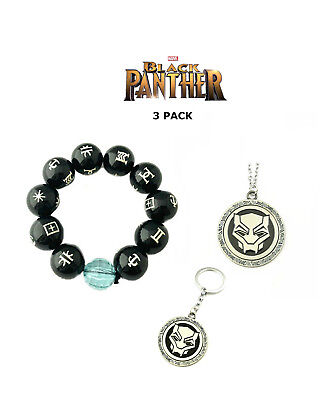 New 2018 Movie Black Panther Wakanda Cosplay 3 Pack Jewelry Gift Set
