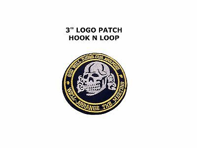 PUNISHER Skull Army Seal Navy Embroidered Iron on Patch Military Morale