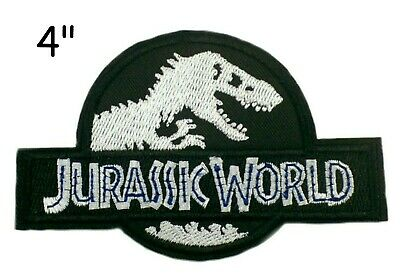 Jurassic Park Movie Logo Embroidered Iron 4.0 Inch Patch