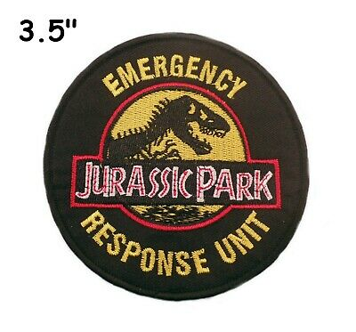 Jurassic Park Movie Logo Embroidered Iron-On / Sew-On Patch Emblem Badge