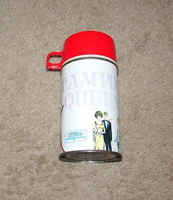 Vintage 1967 King Seeley Campus Queen Lunchbox Thermos Metal