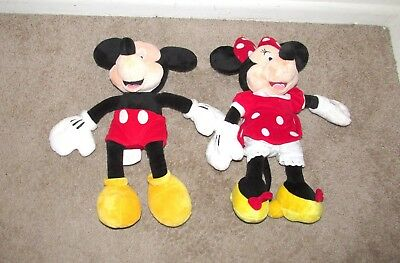 Lg Disney Store Exclusive Minnie & Mickey Mouse Plush Stuffed Animals 19 Inch