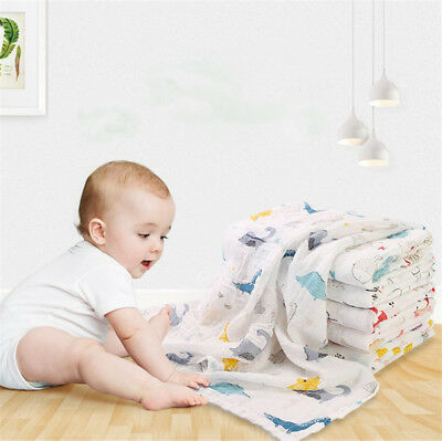 100% Cotton Baby Swaddle Blanket Newborn Baby Sleeping Swaddle Muslin Gauze Wrap