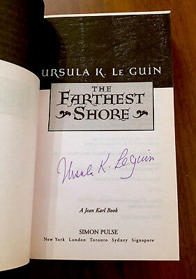 Ursula K Le Guin SIGNED PB THE FARTHEST SHORE National Book Award Winner!