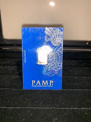 PAMP Fine Gold Bar 2.5g Suisse Fortuna Bullion Sealed