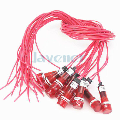 10PCS 220V Red Indicator Lamp Signal Switch Light For Water Tank Food Grade