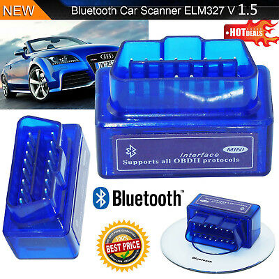 Bluetooth Mini ELM327 OBD2 II Auto Car OBD2 Diagnostic Interface Scanner Tool  J