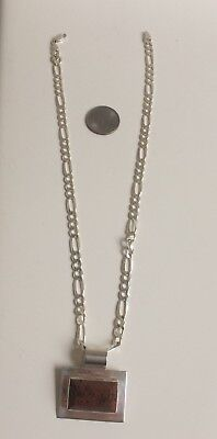 Sterling Necklace Mahogany Obsidian Natural Gemstone Mexico with Pendant
