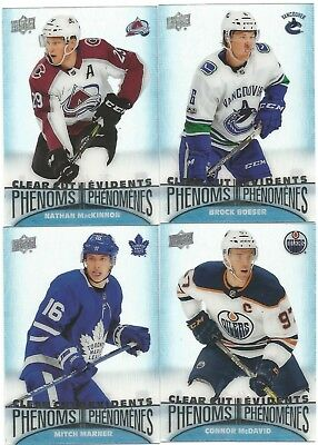 18/19 UD Tim Hortons Clear Cut Phenoms (McDavid, Marner, ++) U-Pick from List