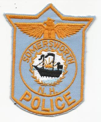 Somersworth NEW HAMPSHIRE NH Police patch OLD