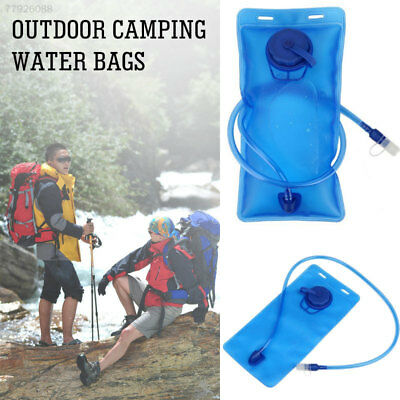 A964 Sports Water Bag Bladder Bag 2L Travel Outdoor Durable Blue Silicone