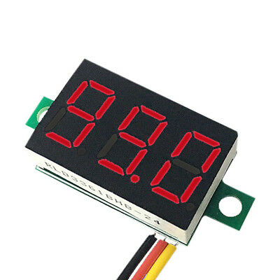 Mini LED 3-Digital Display Volt Voltage Voltmeter Panel Accurate Meter 4-30V RED