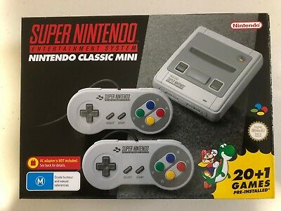 Super Nintendo Classic Mini Console Edition SNES 20+1-Preloaded Games System