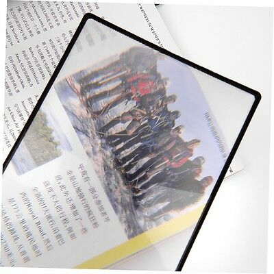 A5 PVC Magnifier Sheet 180X120mm Book Page Magnifying Reading Glass Lens JW